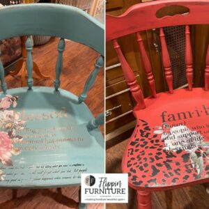 Chair Makeovers using Stencils